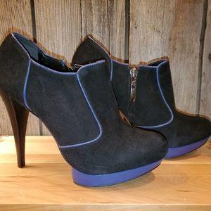 Aldo black suede heels booties 38